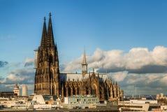 monde international de l'UNESCO de site de borne limite d'héritage célèbre de l'Allemagne de cologne de cathédrale photos stock