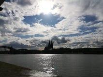 monde international de l'UNESCO de site de borne limite d'héritage célèbre de l'Allemagne de cologne de cathédrale Photographie stock
