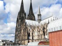 monde international de l'UNESCO de site de borne limite d'héritage célèbre de l'Allemagne de cologne de cathédrale Images stock