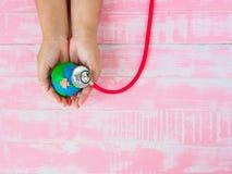 Monde la terre jour jour de santé du 22 avril et du monde, le 7 avril concept Photo stock