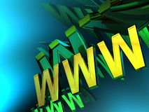 monde large du Web 3d illustration stock