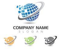 Monde Logo Template de fil Photos libres de droits
