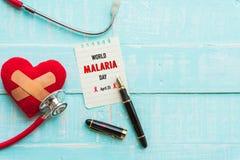 Monde MALARIA jour 25 avril, soins de santé et concept médical Photographie stock