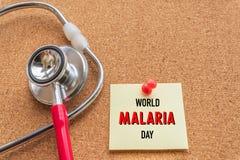 Monde MALARIA jour 25 avril, soins de santé et concept médical Photos stock