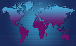 Monde Map01 Illustration Stock