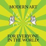 Monde moderne d'Art For Everyone In The des textes d'écriture de Word Concept d'affaires pour la créativité écartée à l'autre des illustration de vecteur