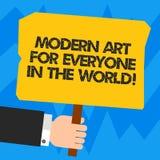 Monde moderne d'Art For Everyone In The des textes d'écriture de Word Concept d'affaires pour la créativité écartée à l'autre HU  illustration stock