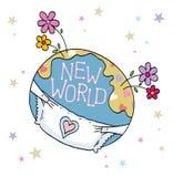 Monde neuf Photographie stock libre de droits