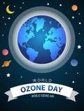 Monde ou conception internationale de vecteur de jour de l'ozone pour l'affiche et la salutation illustration de vecteur