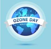 Monde ou conception internationale de vecteur de jour de l'ozone pour l'affiche et la salutation illustration libre de droits