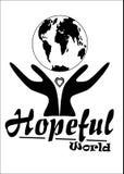 Monde plein d'espoir Image libre de droits