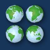 Monde polygonal de vecteur dans le style d'origame Images libres de droits