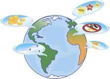 Monde rêveur, illustration du globe, et illustration stock