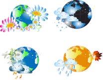 Monde saisonnier Photographie stock libre de droits