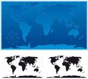 Monde schématique Photos libres de droits