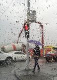 monde sous la pluie Image stock