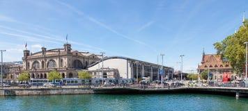 monde suisse Zurich de tour de rue de peter s de visage d'horloge de paysage urbain de ville d'église le plus grand Images libres de droits