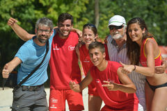 Monde Team Championship 2014 de tennis de plage Photo stock