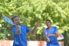 Monde Team Championship 2014 de tennis de plage photo libre de droits