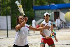 Monde Team Championship 2015 de tennis de plage Images libres de droits