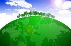 Monde vert illustration de vecteur
