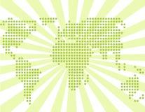 Monde vert d'Abstarct Photo stock