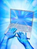 monde virtuel d'ordinateur photographie stock libre de droits