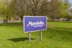 Mondelez-Fabrik-Zeichen Lizenzfreie Stockfotos