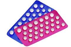 Mondelinge contraceptieve pillen. Royalty-vrije Stock Foto's