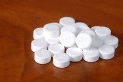 Mondelinge geneeskunde, paracetamol 500 mg , witte pillen Royalty-vrije Stock Foto's