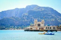 Mondello,巴勒莫,西西里岛,意大利 免版税库存图片