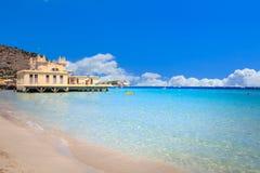 Mondello beach. In Palermo, Sicily Stock Image