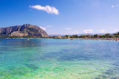 Mondello beach in Palermo Stock Photo