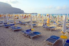Mondello beach, Sicily Royalty Free Stock Image