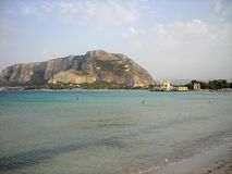 Mondello beach, Sicily, in summer Royalty Free Stock Images