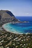 mondello Palerme Sicile de l'Italie photographie stock