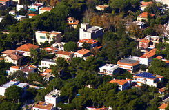 Mondello. Panoramic view of the mondello's gulf. Palerm, Sicily Royalty Free Stock Images