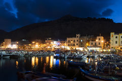 Mondello par nuit Photos stock
