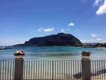 Mondello sea view Royalty Free Stock Photos