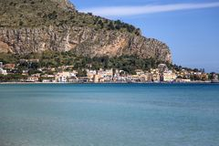Mondello, Sicilië Stock Afbeeldingen
