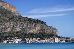 Mondello Sicilien Arkivfoton