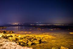 Mondello vid natt Fotografering för Bildbyråer