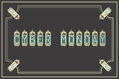Mondey cibernético Ilustraci?n del vector Estilo de la vendimia retro amperios libre illustration