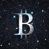 Mondiaal Bitcoin-Net Royalty-vrije Stock Fotografie