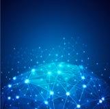 Mondiaal Digitaal netwerknet Royalty-vrije Stock Afbeeldingen
