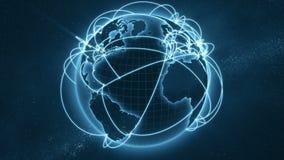 Mondiaal net - blauwe versie stock illustratie