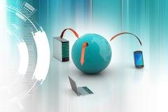 Mondiaal net en Internet-communicatie concept Royalty-vrije Stock Afbeeldingen