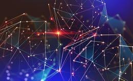 Mondiaal neuraal net Communicatietechnologie van de toekomst royalty-vrije illustratie