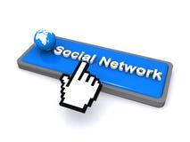 Mondiaal sociaal net Stock Fotografie