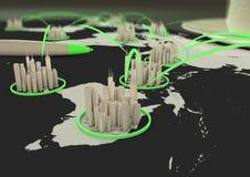 Mondiaal stadsnet vector illustratie